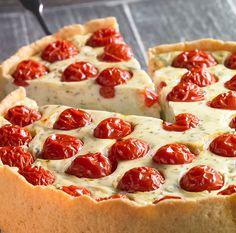 Pikanter Käsekuchen mit Tomaten