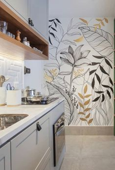 Wall Painting Decor, Diy Wall Decor, Diy Home Decor, Room Decor, Mural Art, Wall Murals, Picture Wall Living Room, Inspirational Wallpapers, Inspiration Wall