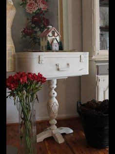 Great use of an old suitcase.....                                                                                                                                                                                 More