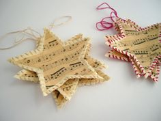 ✯ Wish Upon the Stars ✯ Shabby chic Christmas star tags Homemade Ornaments, Diy Christmas Ornaments, Homemade Christmas, Christmas Holidays, Christmas Decorations, Christmas Stars, Christmas Books, Vintage Ornaments, Tree Decorations