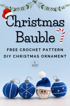 Beautiful Christmas bauble crochet free pattern ornament. A pack of four different patterns for you to make for your Christmas decorations. Super easy and fast to make, and your Christmas tree will be full in one day! DIY Christmas decoration! Free crochet ornament pattern for you to start today! #christmasdecoration #DIY #amigurumi