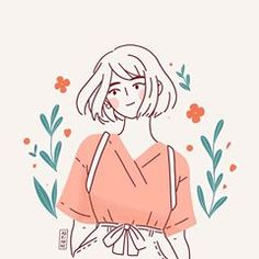 An exploration on other colour- rustic teal. Again, sooo tempted to use yellow f… An exploration on other colour- rustic teal. Again, sooo tempted to use yellow for her dress. ☀️ Do you like this colour palette? Cartoon Kunst, Cartoon Art, Kunst Inspo, Art Inspo, Art And Illustration, Girl Illustrations, Posca Art, Dibujos Cute, Anime Art Girl