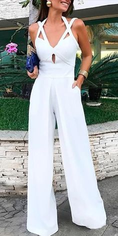 Sommer-Overall - Pin Pintogopin Site 2019 Bandage, Jumpsuit Pattern, Jumpsuits For Women, Fashion Jumpsuits, Wide Leg, Fashion Dresses, Cute Outfits, Vintage Fashion, Pure Products