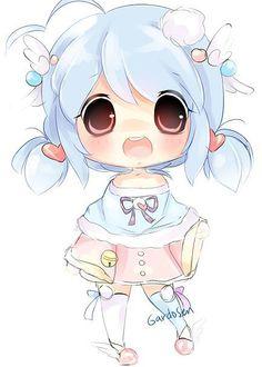 # kawaii #anime #pigtails #chibi