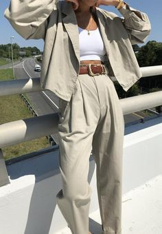 Girly Outfits, Pretty Outfits, Cool Outfits, 90s Fashion, Girl Fashion, Fashion Outfits, Fasion, Fashion Clothes, Linen Trousers