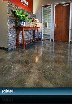 Love this stained concrete floor color
