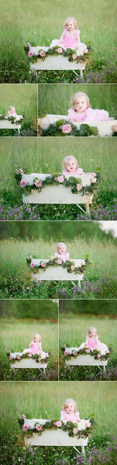 This pretty pink outfit is so fitting for this scene. The pink tutu outfit, bassinet and garland all belong to Yvonne Niemann Photography and are available for clients to use for their portrait sessions.