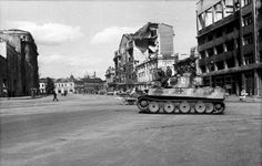 Panzerkampfwagen VI TIGER I in the street 1943