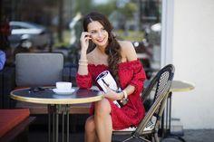 kobieca czerwona sukienka