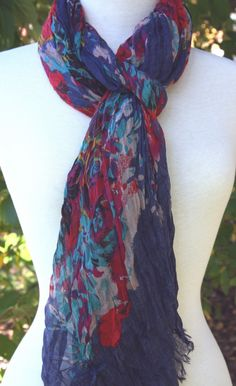 Blue Pacific - Navy Scarf!