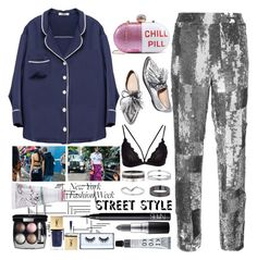 """""""NYFW street style"""" by bartivana ❤ liked on Polyvore featuring Miss Selfridge, Chloé, Loeffler Randall, Cartier, Chanel, Yves Saint Laurent, NARS Cosmetics, MAC Cosmetics, Huda Beauty and too cool for school"""