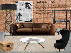 Look industrial para tu sala. #board #brick #industrial