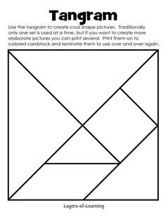 Free printable tangram