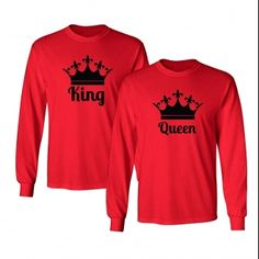 e15c85e7 Chic Designs King Queen, Queen Crown, Cute Couple Outfits, Matching Couples,  Branded