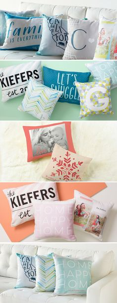 Create a customized pillow that is uniquely you by mixing and matching playful patterns or uploading a favorite photo.