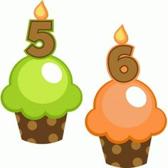 Silhouette Design Store: birthday cupcakes 5 and 6