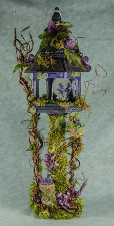 """purple fairy house. """"Fairies aren't real."""" """"What, you'll believe in a hundred kids with magic powers but you can't wrap your head around fairies?"""""""