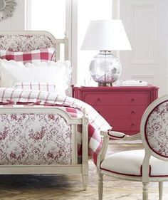 Get bedroom decorating ideas and inspiration, and learn how designers put bedroom furniture sets together. Plan your bedroom makeover with Ethan Allen. Custom Furniture, Painted Furniture, Bedroom Furniture, Bedroom Decor, Pink Dresser, Shop Interior Design, Design Shop, Gray Interior, Interior Doors
