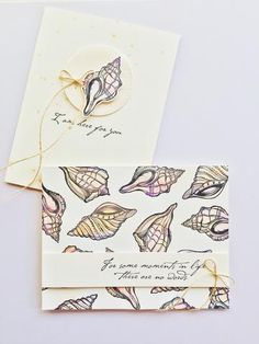 Heartfelt handmade sympathy card ideas. All stamps, dies, and card stock by A Muse Studio. Seashells Remind Us stamp set, Seashells Remind Us die set, Toffee twine. #cas #diy #stamping #handstamped #papercrafts #cardideas #amusestudio #thinkingofyou #hereforyou