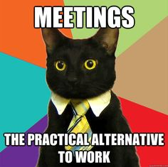 Meetings... The practical alternative to actual work ;-)