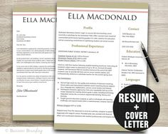 Beautiful Beige Design Resume Template  Cover by BusinessBranding, $15.00