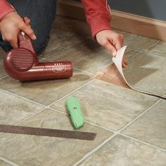 Holes and burns in vinyl flooring look impossible to repair, but if you can cut a small patch from a closet or under an appliance, you can make a repair that looks as good as the original floor.