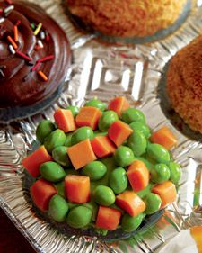 carrot and pea cupcakes
