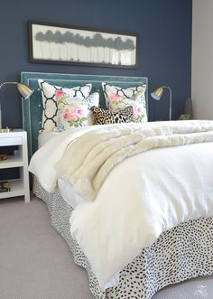 Guest Bedroom Design Ideas: A Cozy, Chic Guest Room Retreat Update (Part Guest Bedroom Decor, Guest Bedrooms, Home Bedroom, Bedroom Ideas, Fall Bedroom, Bedroom Designs, Cottage Bedrooms, Dark Bedrooms, Bedding Master Bedroom