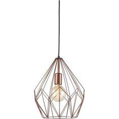 Eglo vintage hanglamp Carlton koper