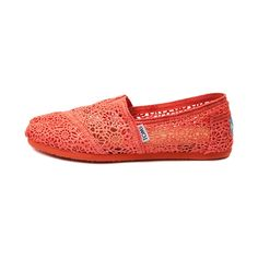 Shop for Womens TOMS Classic Crochet Slip-On Casual Shoe in Persimmon at Shi by Journeys. Shop today for the hottest brands in womens shoes at Journeys.com.