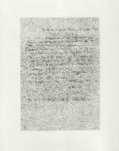 Nina Papaconstantinou, 2014, dessin à l'encre sur papier calque sous plexiglas, 32 x 24 cm, oeuvre unique