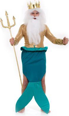 Beautiful For The Guys Disney King Triton Costume, Poseidon Costume, Merman Costume,  Best Couples