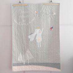 Custom modern baby quiltOnce Upon A time Princess quilt от nenimav