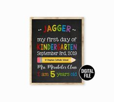 Items similar to Back to School poster, School Poster, First day of school sign, First day of Kindergarten chalkboard sign, Last day of school sign on Etsy Last Day Of School, New School Year, School Boy, Back To School, High School, Kindergarten First Day, School Signs, School Posters, Free Preschool