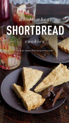These rustic shortbread wedges are made with whole-wheat pastry flour for a light, crumbly texture. Complete the treat with winter citrus, such as clementines or blood oranges, and dark chocolate.