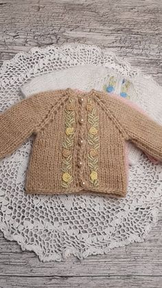 Handmade knitted blouse is suitable for Paola Reina doll, Antonio Juan. Dianna Effner. Embroidery is decorated by hand. suitable for dolls 32-34 cm