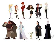 Some Harry Potter Characters by Britt315 on DeviantArt