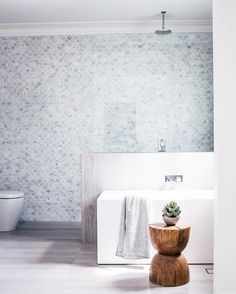 Mermaid tile fever over here at Barnaby Lane. have out-done themselves with this cutee of a bathroom 👌 House Bathroom, Bathroom Inspiration, Three Birds Renovations, Bathroom Renos, Bathroom Decor, Home, Interior, Bathroom Design, Bathroom Layout
