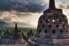 Borobudur, Central Java, Indonesia.