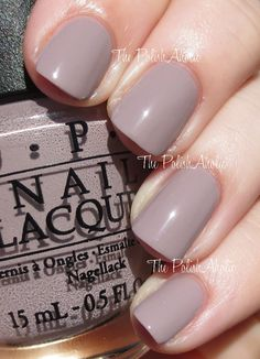 OPI Spring/Summer 2014 Brazil Collection  Taupe-less Beach is a light grey taupe creme. This is much lighter than the previous taupe in this collection. The formula was great, it was a nice consistency and the opacity was great. This could be a 1 coater depending on how you polish, I used 2 coats for the photos below.