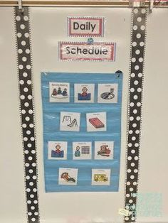 """How To Set Up A Special Education Program""- Bulletin Boards - The Autism Adventures of Room 83 Classroom Setting, Classroom Setup, Classroom Schedule, Classroom Environment, Classroom Door, Classroom Design, Future Classroom, Autism Classroom, Special Education Classroom"