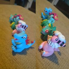 """Collection of #polymerclaypokemon building too much, pocket monsters all over my lounge #ooak #polymerclay #etsypokemon #pokemonbadges #sculpey #fimo…"""