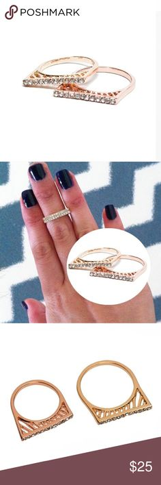Rose Gold Pave Bar Ring 💕Coming Soon!💕 Coming Soon! Please check back 💕 T&J Designs Jewelry Rings