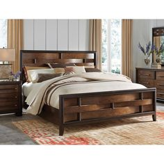 Art Van Brentwood Basket Weave Panel Queen Bed - Overstock Shopping - Great Deals on Art Van Furniture Beds