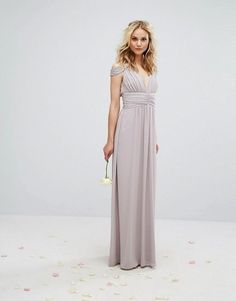 bbed9bbd6d855e TFNC WEDDING Maxi Dress with Embellished Cold Shoulder at asos.com