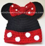 Gorro Minnie Mouse rojo