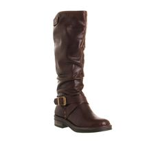 Accelerate X Strap Choc Leather Boots http://shop.pixiie.net/womens-office-accelerate-x-strap-choc-leather-boots-brownblack/