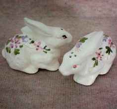 Hand Painted Easter Bunny Salt & Pepper Shakers