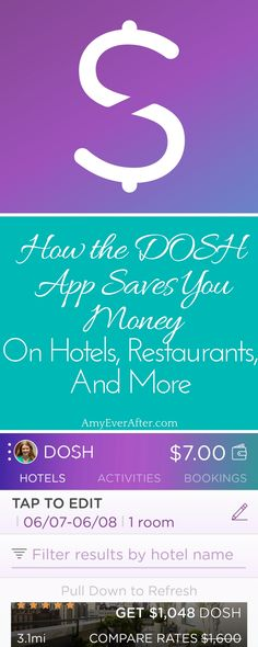 DOSH is a cashback app that gives you your money FAST - sometimes moments after paying your bill! There are no receipts to scan, no coupons to give the waiter or hotel front desk. If you're looking to save money online this is the cashback app for you. Just register your credit cards and let the DOSH app take care of the rest. #sponsored