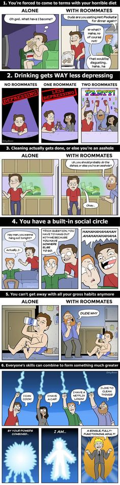 6 Reasons You Should Without Doubt Live With Roommates - 9GAG